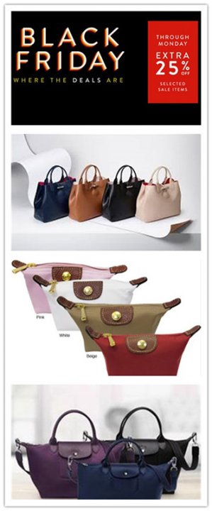 It withstands for time of Longchamp bags.